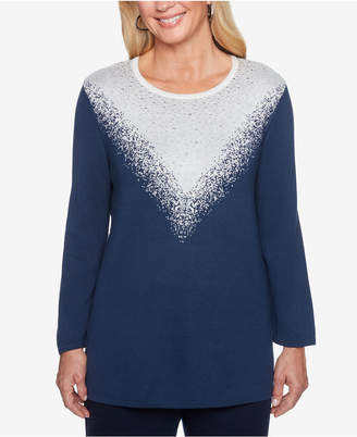 Alfred Dunner Metallic Ombre Sweater