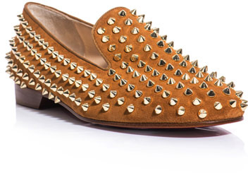 Christian Louboutin The rolling studded slippers