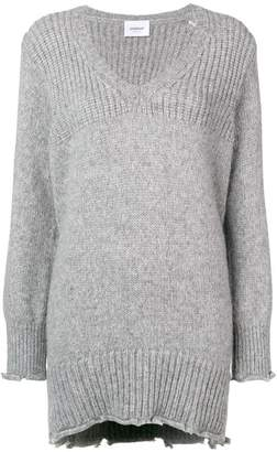 Dondup frayed hem long sweater