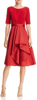 Adrianna Papell Taffeta-Skirt Dress