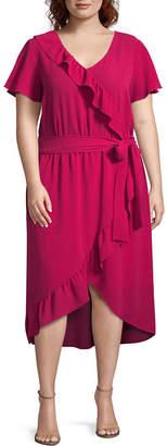 Alyx Short Sleeve Wrap Dress - Plus