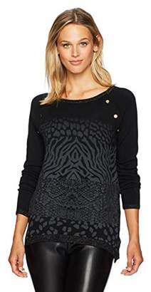 Desigual Women's Gaea Woman Flat Knitted Thin Gauge Pullover