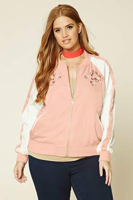 Forever 21 Plus Size Embroidered Jacket
