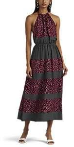 WOMEN'S FLORAL HALTER DRESS - BLACK PAT. SIZE 14