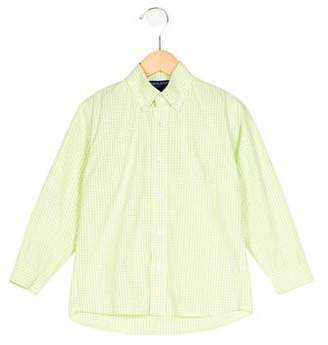 Papo d'Anjo Boys' Gingham Collared Shirt