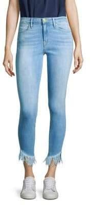 Frame Le High Skinny Shredded Hem Jeans