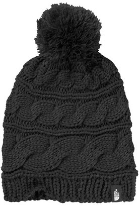 Women's The North Face Triple Cable Pom Beanie - Black $30 thestylecure.com