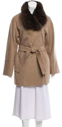 Loro Piana Fur-Trimmed Cashmere Coat