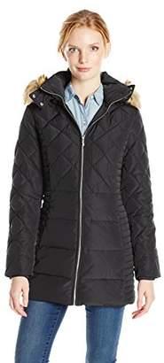 Jones New York Women's Diamond Quilted Down Coat $70.76 thestylecure.com