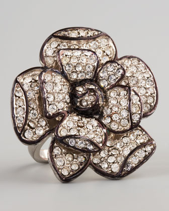 Lisa Freede Pave Flower Ring