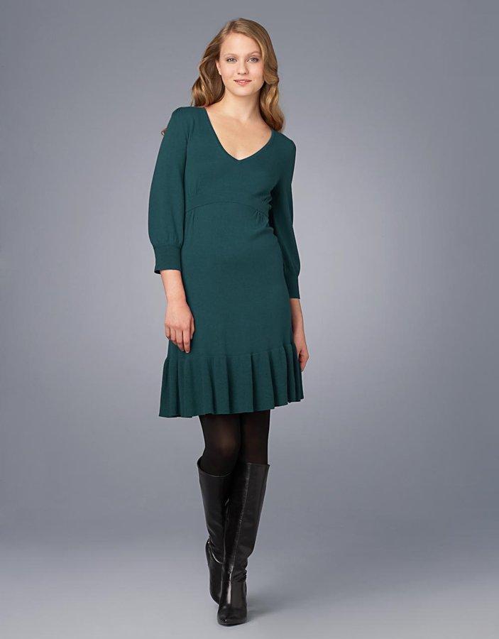 Great Plains 3/4-Sleeved V-Neck Sweater Dress