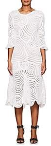 Barneys New York Women's Cotton Crochet Midi-Dress - White