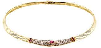 Van Cleef & Arpels 18K Ruby & Diamond Collar Necklace