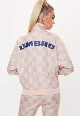 Missguided Umbro x Pink Oversized Batwing Track Top