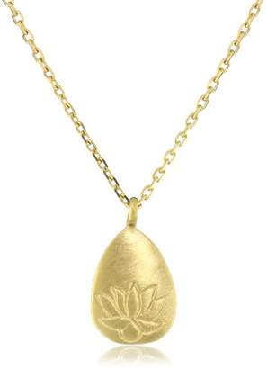 Satya Jewelry Classics -Plated Lotus Pendant Necklace (18-Inch)