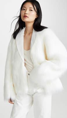 ANAÏS JOURDEN White Faux Fur Blazer