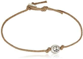Me & Ro Me&Ro Sterling Peace Bead Cord Strand Bracelet