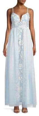 Jump Embroidered Tulle Gown