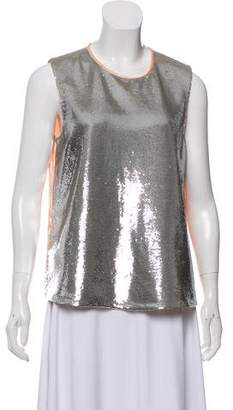 Diane von Furstenberg Sequined Sleeveless Blouse