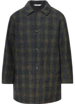 Aspesi Checked Harris Tweed Coat