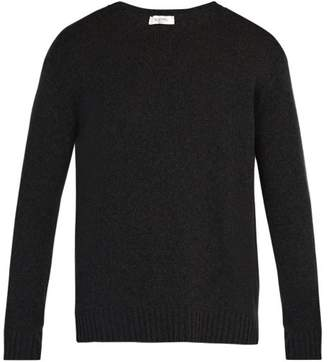 Valentino Crew Neck Cashmere Sweater - Mens - Black