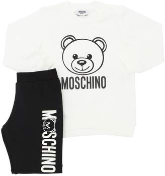 Moschino Printed Cotton Sweatshirt & Sweatpants