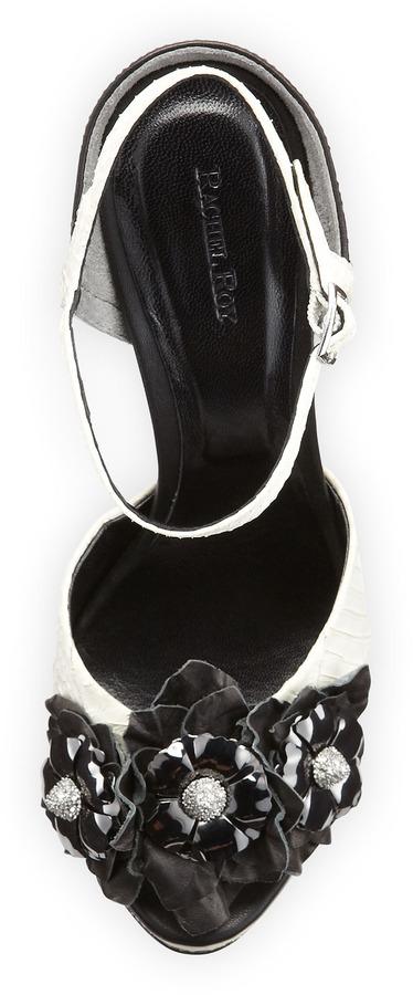 Rachel Roy Delphine Flower-Applique Sandal