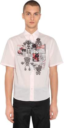 Prada James Jean Monkey Cotton Poplin Shirt
