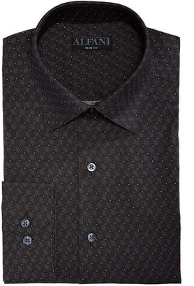 Alfani AlfaTech by Men's Slim-Fit Performance Stretch Cube Dot Dress Shirt, Created For Macy's
