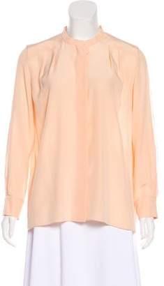 Chloé Long Sleeve Silk Blouse