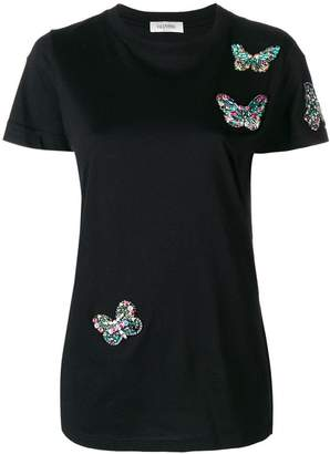 Valentino butterfly embellished T-shirt