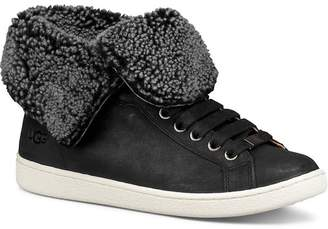 db70a8fc3cfb28 UGG Women s Starlyn Round Toe Lace Up Leather High-Top Sneakers