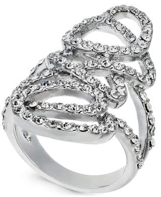 INC International Concepts I.N.C. Silver-Tone Pavé Tangle Ring, Created for Macy's
