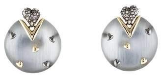 Alexis Bittar Crystal & Studded Heart Lucite Drop Earrings