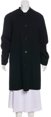 Burberry Wool House Check-Lined Coat
