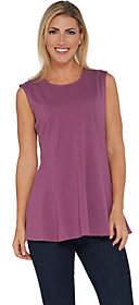 Denim & Co. Essentials Sleeveless Fit and FlareKnit Tunic