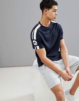 J. Lindeberg Activewear Activwear Riley Double Mesh T-Shirt In Navy