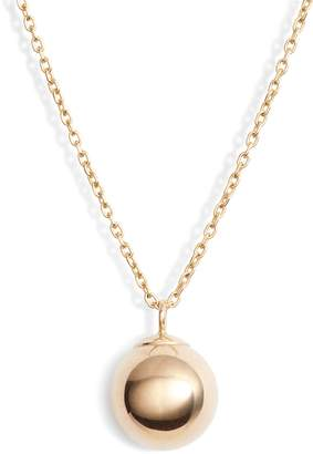 Poppy Finch Gold Ball Pendant Necklace