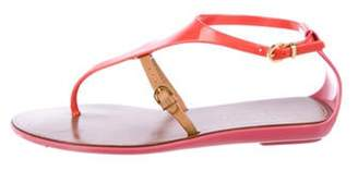Sergio Rossi Rubber Ankle Strap Sandals Pink Rubber Ankle Strap Sandals