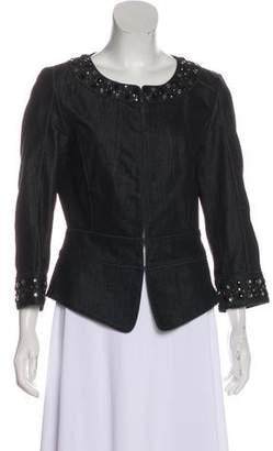 Lafayette 148 Embellished Denim Jacket