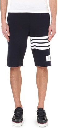 Thom Browne Striped cotton-jersey shorts $465 thestylecure.com