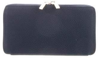 Neely & Chloe Leather Continental Wallet gold Leather Continental Wallet