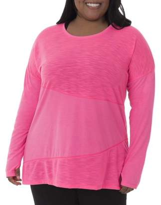 Fruit of the Loom Fit for Me by Women's Plus-Size Active Pieced Tunic Tee