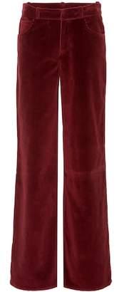 Oscar de la Renta Cotton corduroy wide-leg pants