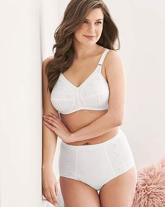 Naturally Close Dotty Embroidered Non Wired White Bra