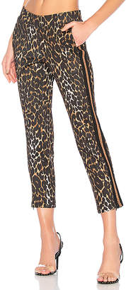 Pam & Gela Leopard Crop Track Pant