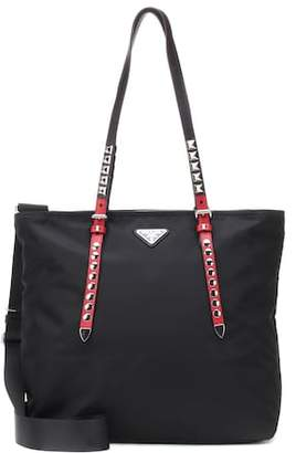 Prada Embellished nylon shopper