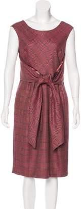 Peter Som Houndstooth Wool Dress
