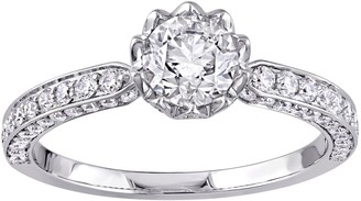 Laura Ashley Jewelry 1.20 cttw Round Diamond Ring, 14KGold