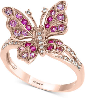 Effy Pink Sapphire (3/8 ct. t.w.) & Diamond (1/10 ct. t.w.) Ring in 14k Rose Gold